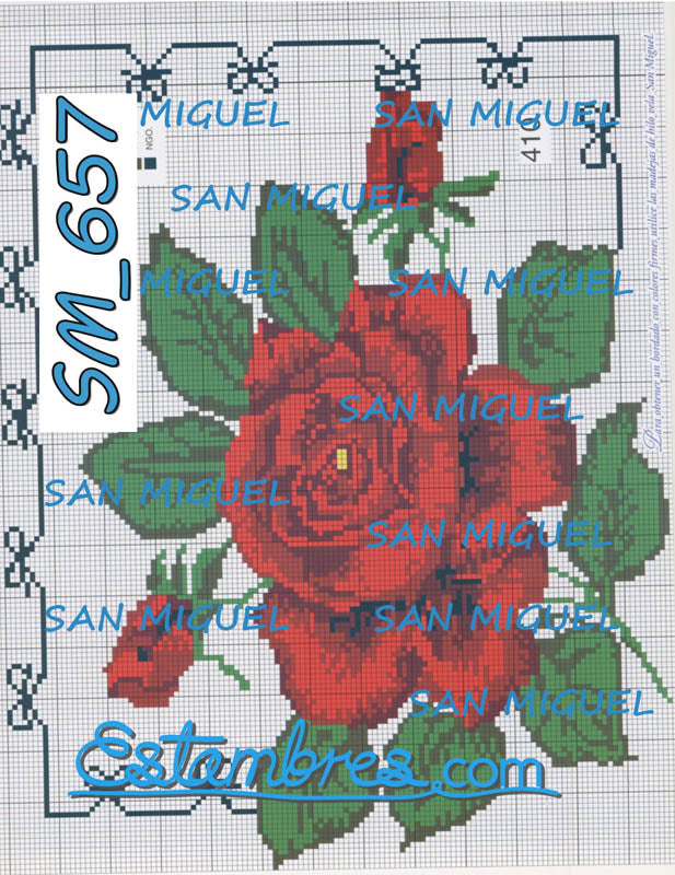 San Miguel [SM637-701] - 3 of 7 - Embroidery Pattern | Crewel Stitch Embroidery | Creative Needlecraft Schemes