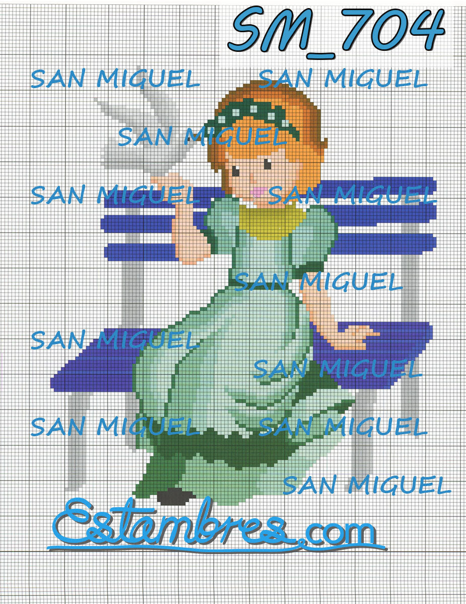 San Miguel [SM702-766] - 4 of 7 - Embroidery Pattern | Crewel Stitch Embroidery | Creative Needlecraft Schemes