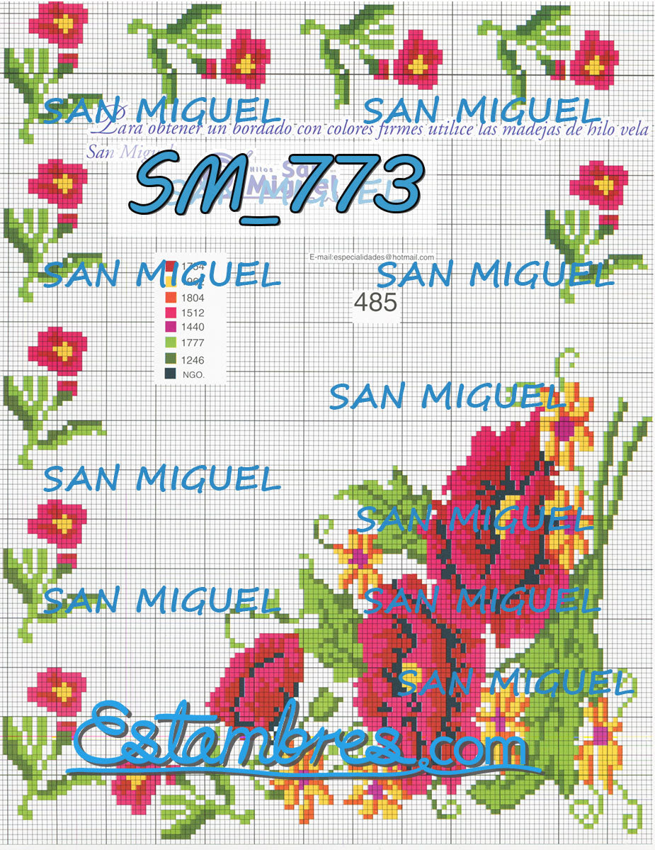 San Miguel [SM767-832] - 5 of 7 - Embroidery Pattern | Crewel Stitch Embroidery | Creative Needlecraft Schemes