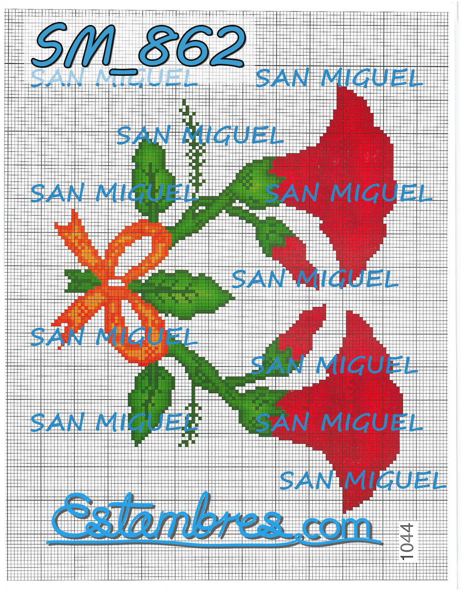 San Miguel [SM833-903] - 6 of 7 - Embroidery Pattern | Crewel Stitch Embroidery | Creative Needlecraft Schemes
