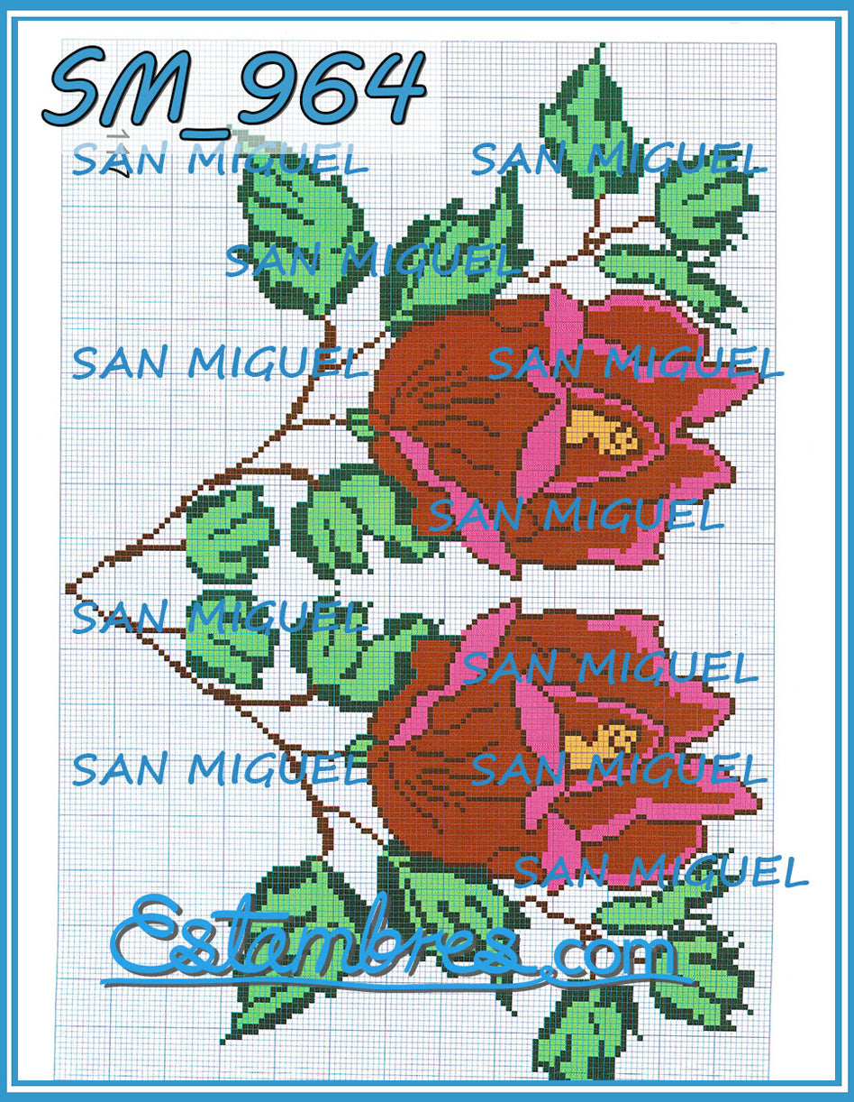 San Miguel [SM904-964] - 7 of 7 - Embroidery Pattern | Crewel Stitch Embroidery | Creative Needlecraft Schemes