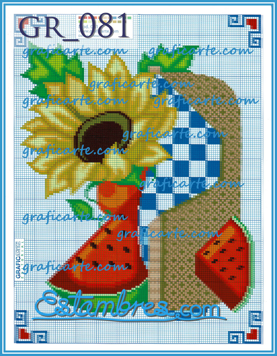 Graficarte [001-070] - 1 of 5 - Embroidery Pattern | Crewel Stitch Embroidery | Creative Needlecraft Schemes