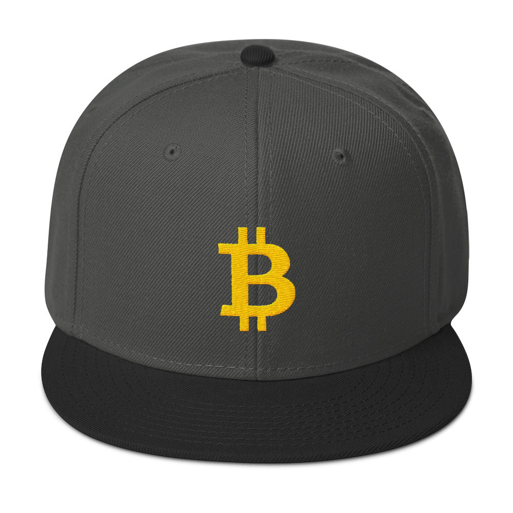 Bitcoin Symbol (Yellow) Snapback Hat