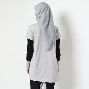 Tisha Top - Light Grey