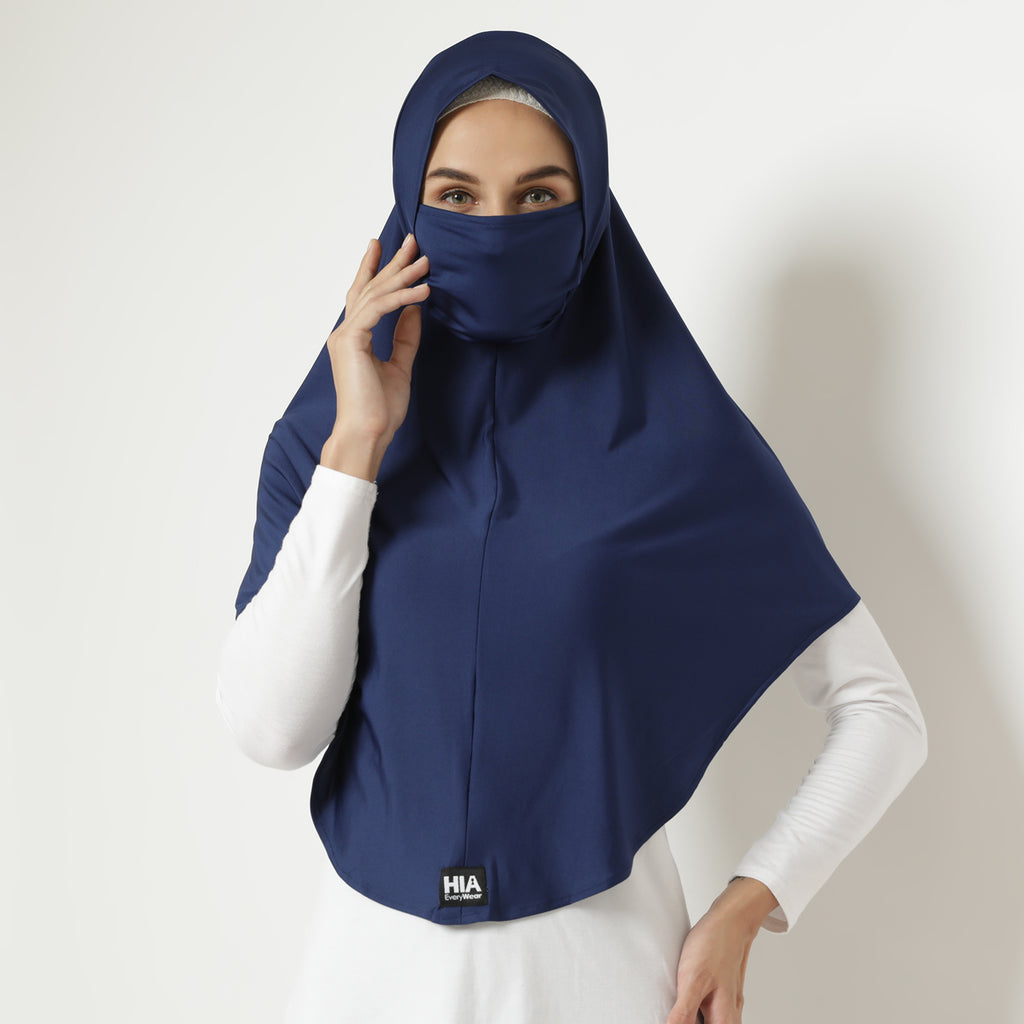 Adeena Hijab 2 in 1 - Navy