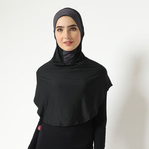 Andechi Hijab ANTI DOUBLE CHIN - Black