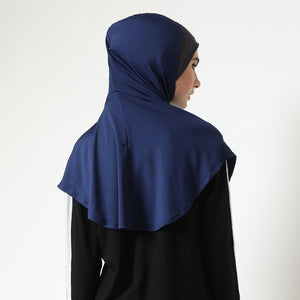 Andechi Hijab ANTI DOUBLE CHIN - Navy