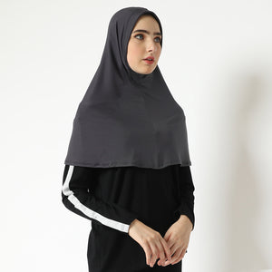 Aretha Hijab - Dark Grey (One Color)