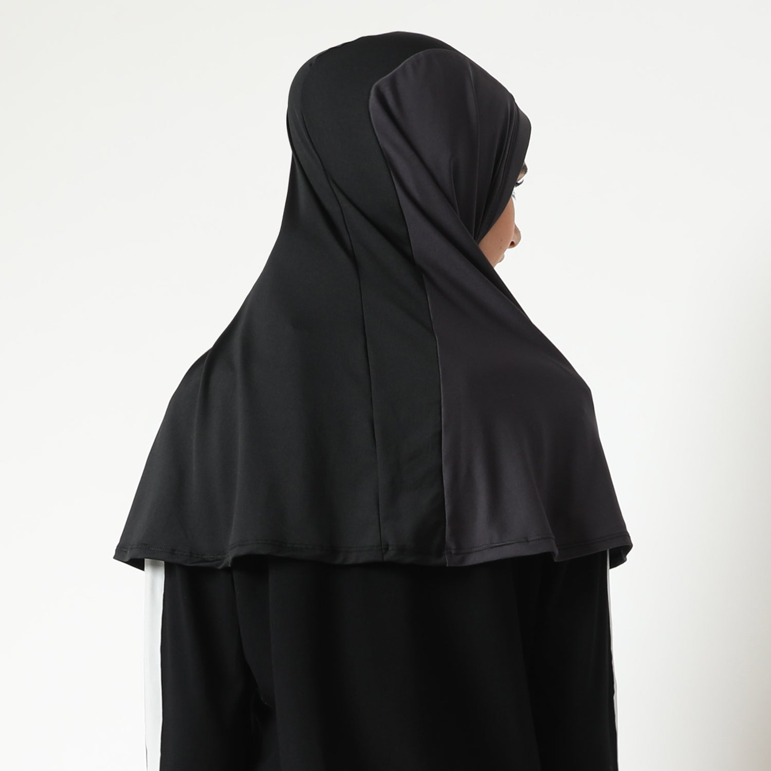 Aretha Hijab - Black-Dark Grey