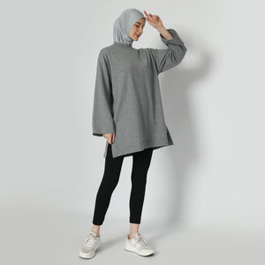 Briandra Oversized Top - Dusty Grey
