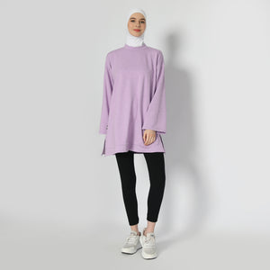 Briandra Oversized Top - Lavender Smoke