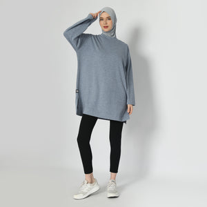 Briandra Oversized Top - Mineral Blue