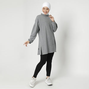 Daleeya Oversized Top - Dusty Grey