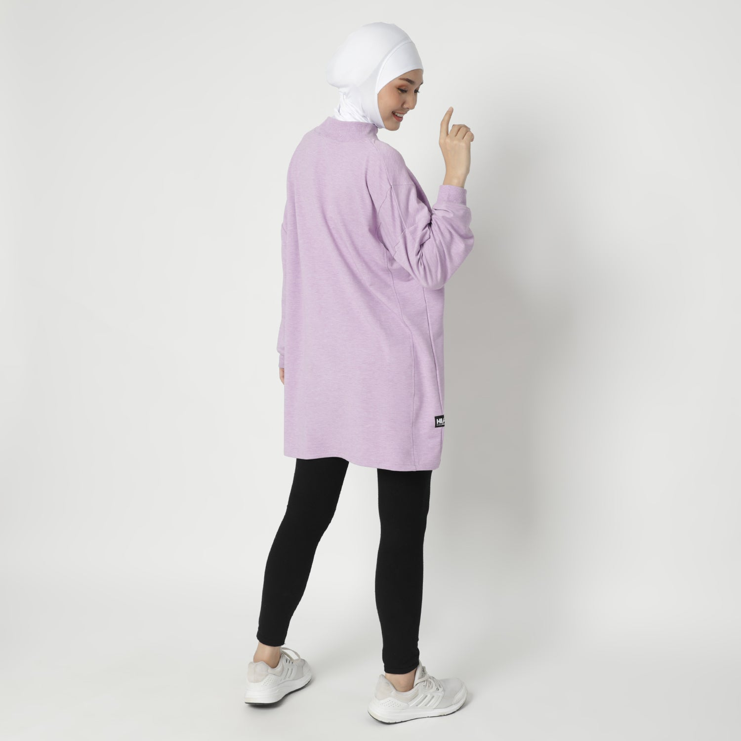 Daleeya Oversized Top - Lavender Smoke