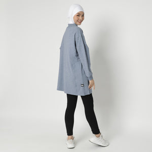 Daleeya Oversized Top - Mineral Blue