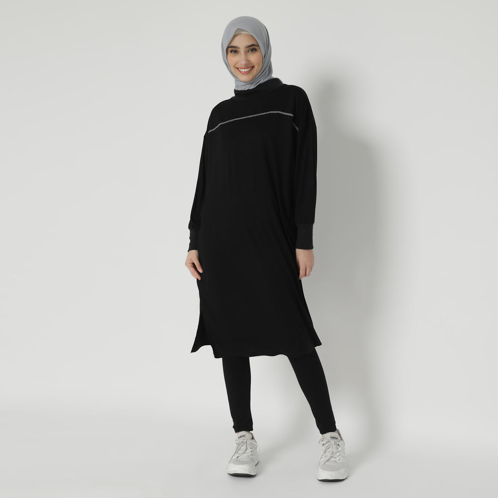 Rania Oversized Tunic - Black