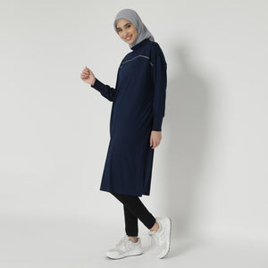 Rania Oversized Tunic - Navy