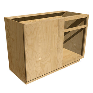 Left Blind Base Cabinet with Drawer - 18 in depth