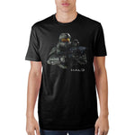 Halo Master Chief Black T-Shirt - Sloppy Inks