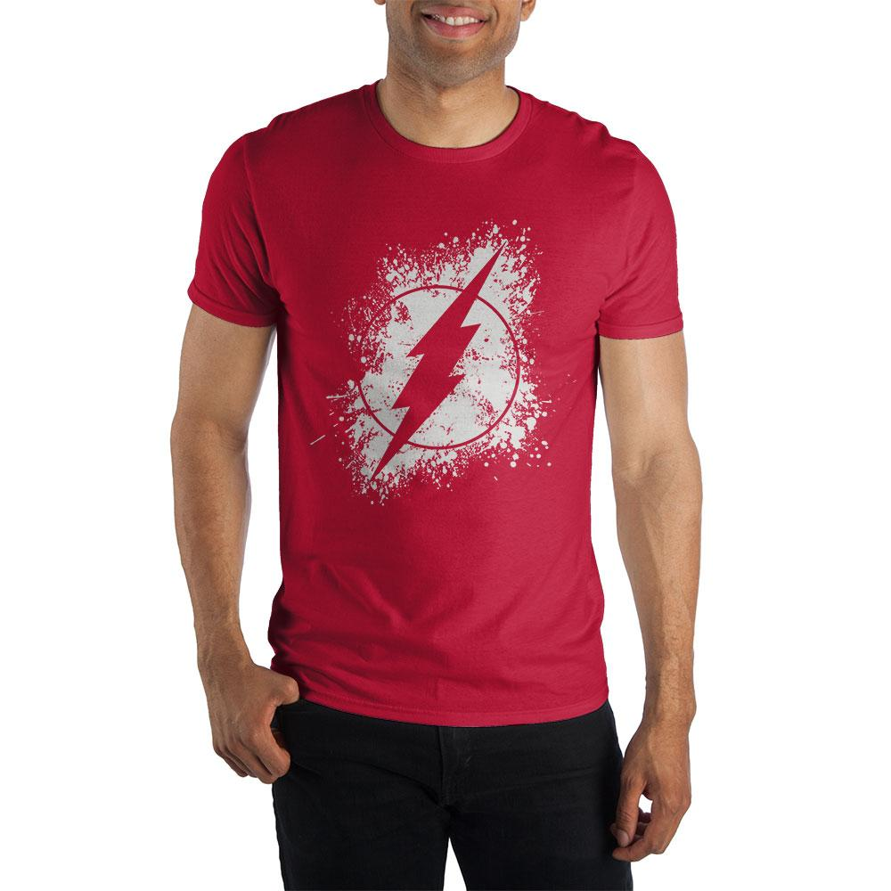 DC Comics Flash Logo Men's Red T-Shirt - Sloppy Inks