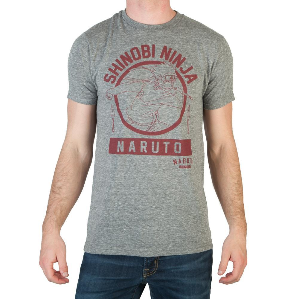 Naruto Shinobi Ninja Tri-Blend T-Shirt - Sloppy Inks