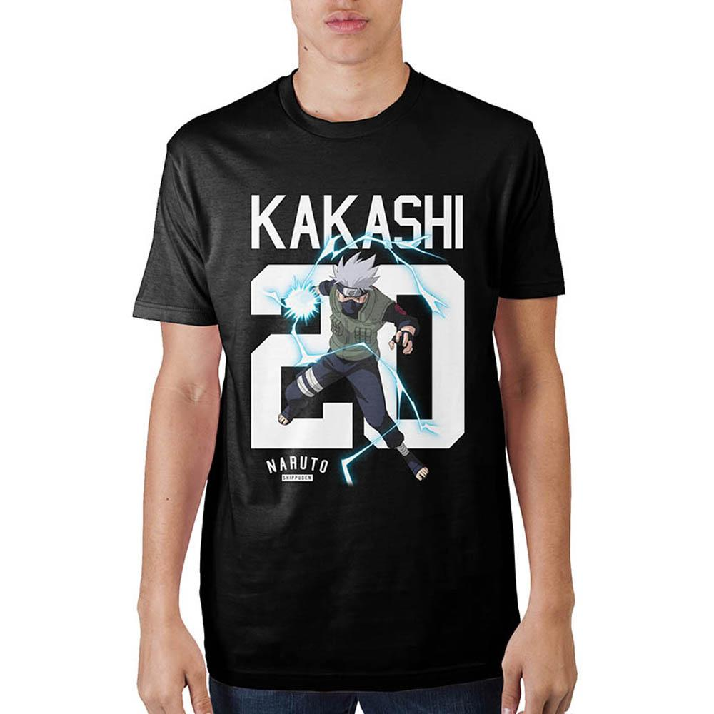 Naruto Kakashi 20 Black T-Shirt - Sloppy Inks