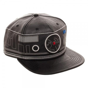 Star Wars First Order BB Unit Big Face Embroidered Faux Leather Snapback - Sloppy Inks