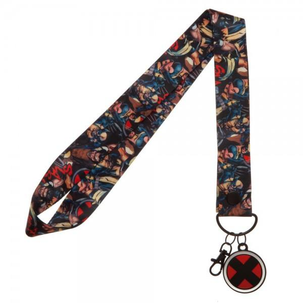 X-Men Wide Lanyard with Metal Charm - Sloppy Inks