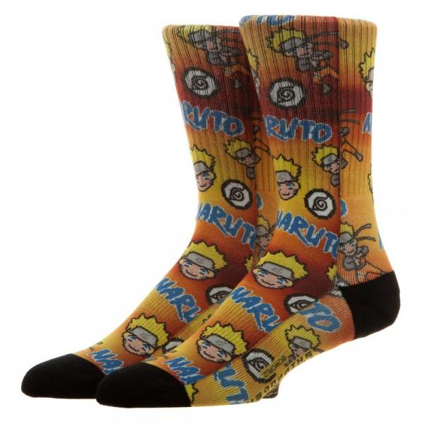 Naruto Pixel Sublimated Crew Socks - Sloppy Inks