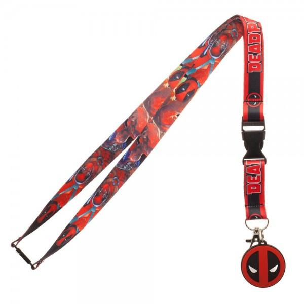 Marvel Comic Deadpool Character Logo Lanyard - Sloppy Inks