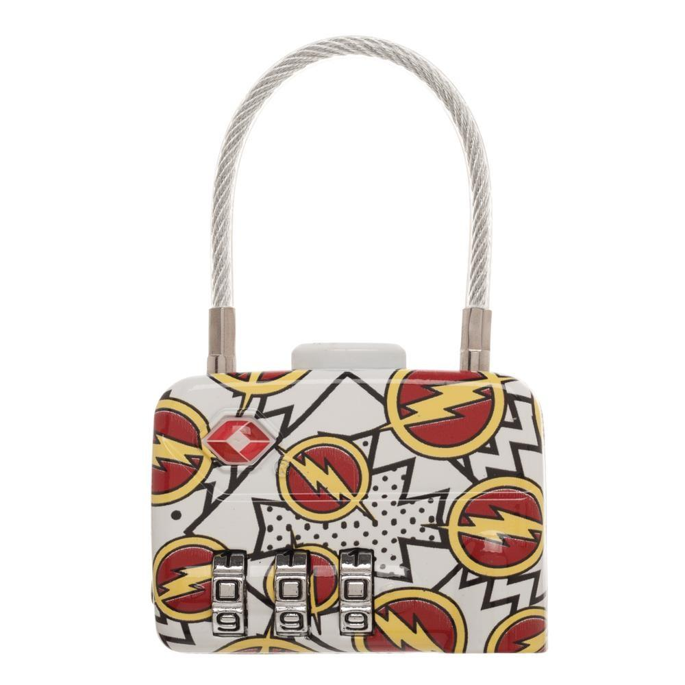 DC Comics The Flash Logo TSA Approved Travel Combination Cable Luggage Lock for Suitcase Baggage - Sloppy Inks
