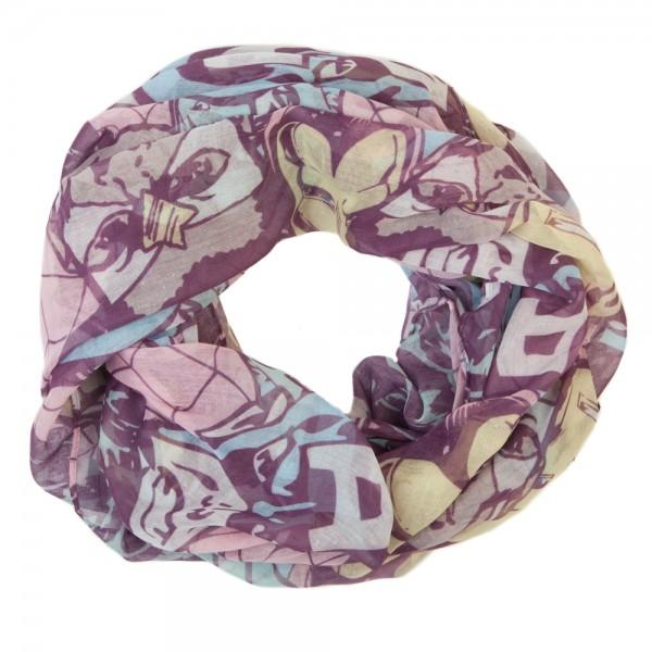Marvel Pastel Tossed Heads Infinity Scarf - Sloppy Inks