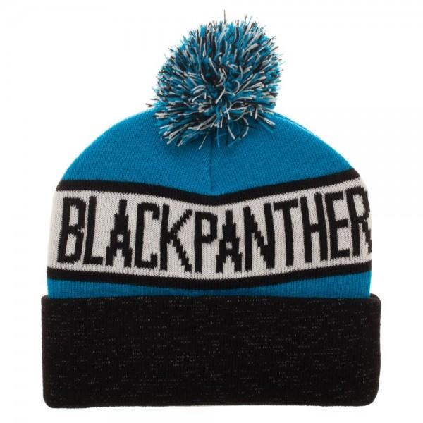 Black Panther Reflective Cuff Beanie - Sloppy Inks