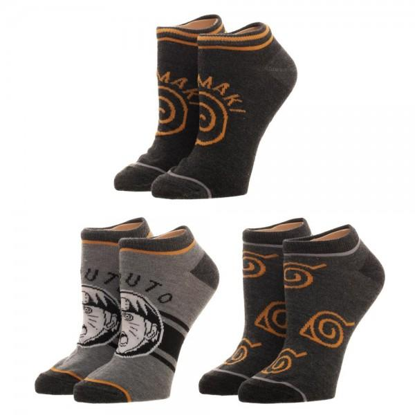 Naruto Youth Ankle Socks 3 Pack - Sloppy Inks
