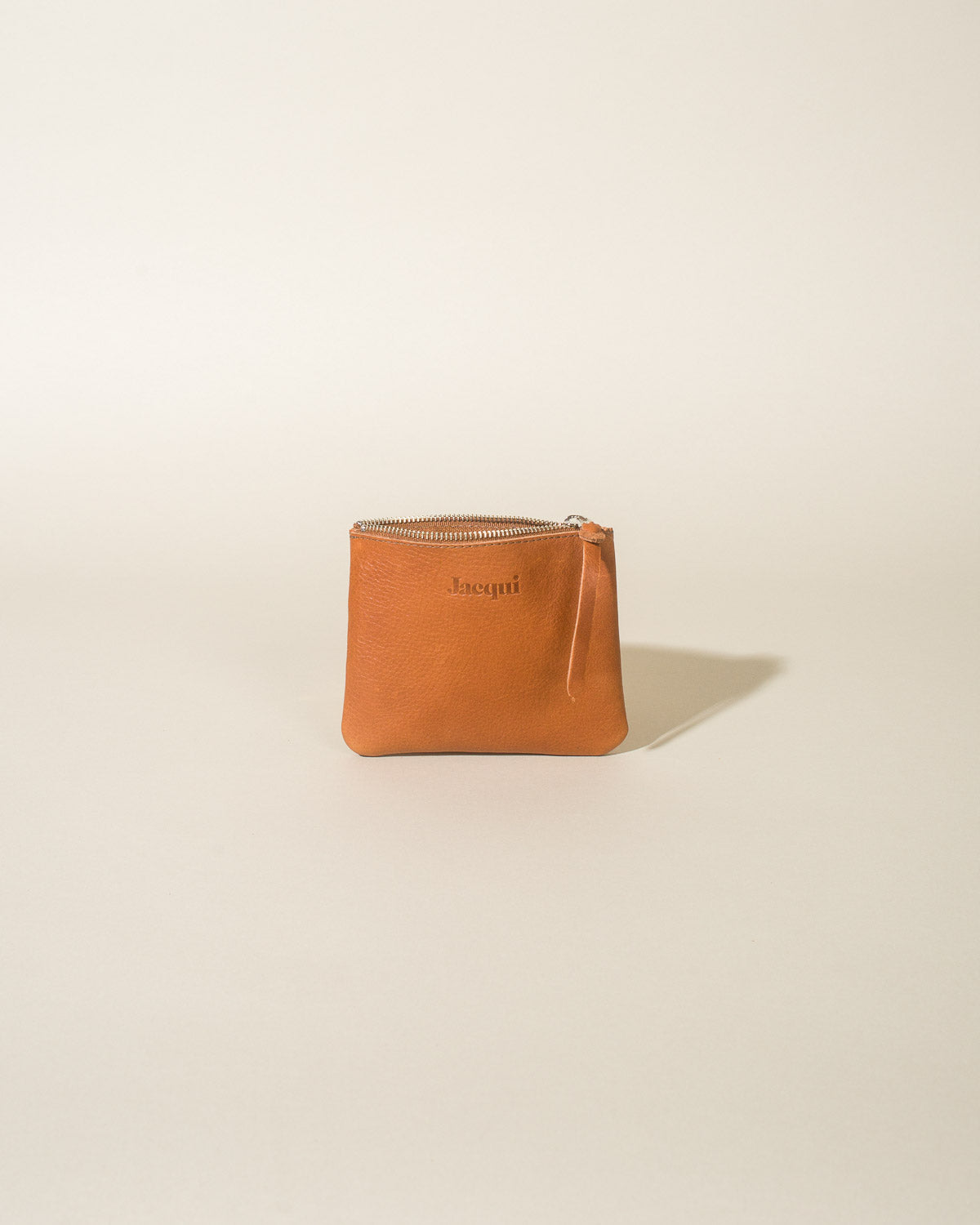 Leather Zip Pouch, Fawn