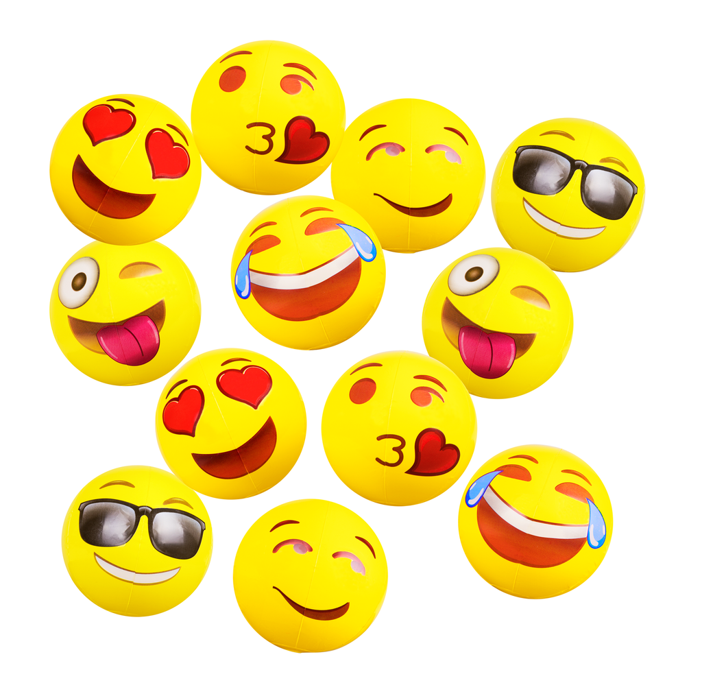 "Emoji 12"" (12 pack) Beach Ball"