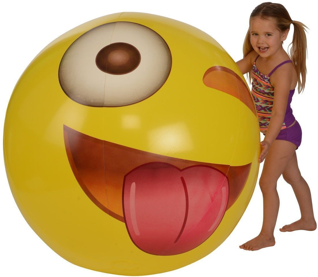 Giant Wink Emoji Beach Ball