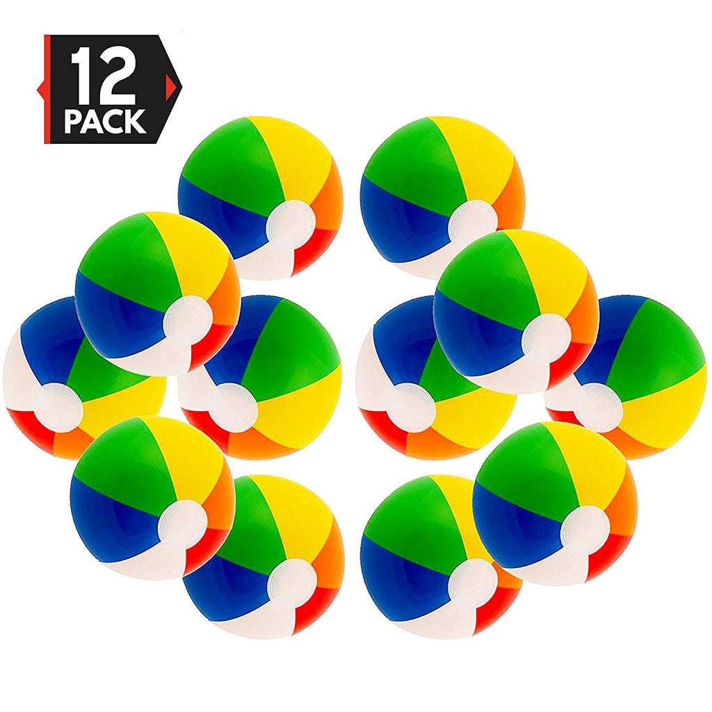 "Rainbow 12"" (12 pack) Beach Ball"