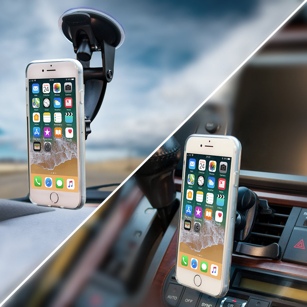 2-in-1 Magnetic Car Mount - Windshield/Air Vent