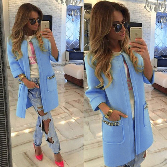 Hot Sale Autumn Fashion Womens Parka Casual Outwear Candy Hooded Coat Women Coat manteau femme