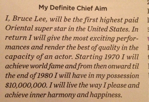 Bruce Lee Chief Aim Statement