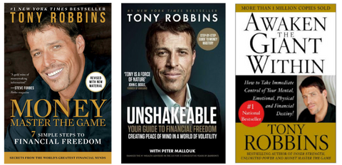 Tony Robbins New York Times Best Selling Books ( Unshakable, Money, Awaken The Giant Within)