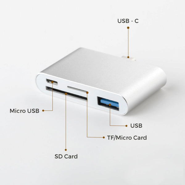 USB-C Hub Micro USB/ SD/ TF/ card reader