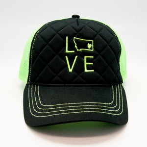 Green Mesh Trucker Cap