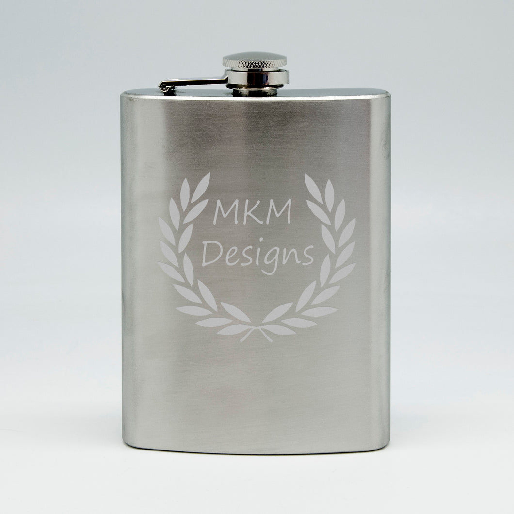 Customized 8 oz Flask