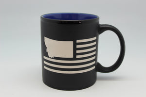USA Flag with Montana State Shape Hilo Straight Mug