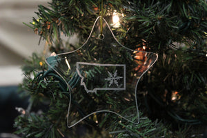 Montana with Snowflake Star Shaped Ornament