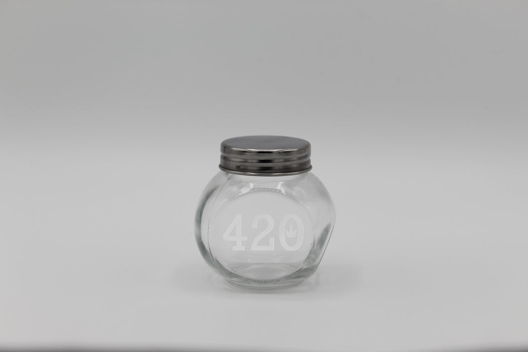 420 Small Glass Jar
