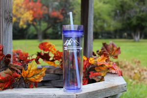 "Acrylic ""Adventure Awaits"" Tumbler 16 Oz"