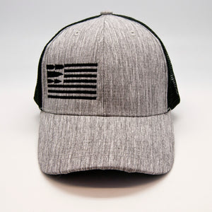 Black Mesh Structured Cap